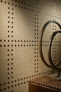 Phillip Jeffries Rivets wallcovering - WOW!