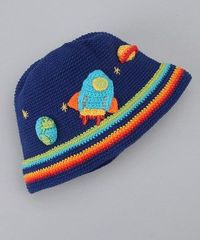Blue Spaceship Beanie
