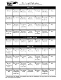 Posts Similar To Insanity Workout Calendar Juxtapost