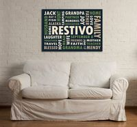 16x20 Canvas featuring Custom Typography Word Art by TYPOGRFX, $135.00