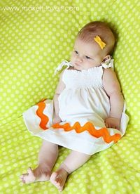 Adorable easy baby dress- (With Jumbo Rick Rack!)