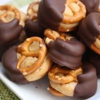 pretzels, peanut butter and chocolate