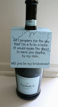 Another cute bridesmaid idea.