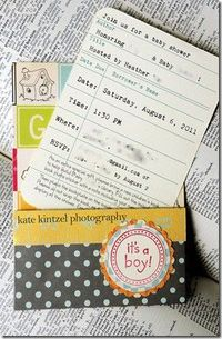 A school theme baby shower where guests are asked to bring a new baby book and fill out a bookplate with a personal note to adhere inside the book! Great baby shower idea!