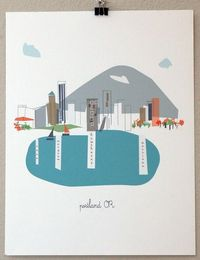 portland, or print by albiedesigns