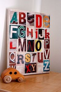 distressed alphabet art