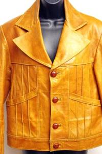 $41 - EXTREMELY HIGH QUALITY LEATHER JACKET Rust Color Size 1X (48 Eur) This Jacket is a unique piece made at a Tannery - not sold mass market.