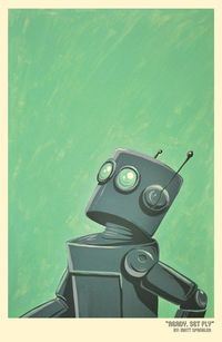 cool robot illustration