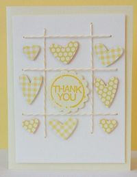 Heart punches in a grid! Love the stitching!
