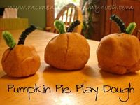 Pumpkin Pie Play Dough from Moments of Mommyhood