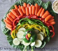 Awesome veggie tray for Thanksgiving!