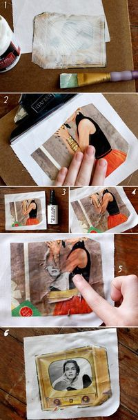 gotta try this. transferring photos to fabric.