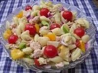 shell pasta, artichoke, tuna, lowfat salad