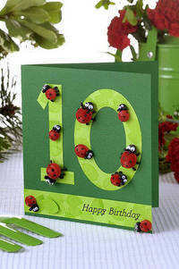 Quilled ladybug card